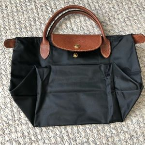 Longchamp le pliage small black tote